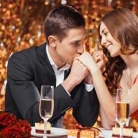Романтическое свидание в ресторане